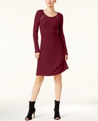 Inc International Concepts Zipper Shoulder Ribbed Dress Created For Macy's Port