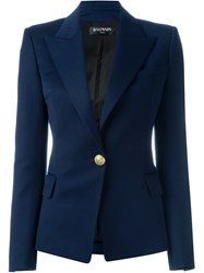 Balmain Fitted Blazer Blue
