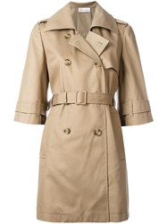 Red Valentino Cropped Sleeve Trench Coat Nude Neutrals