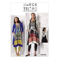 Vogue Marcy Tilton Women's Top Dress And Leggings Sewing Pattern 9108