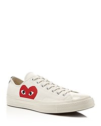 Comme Des Garcons Play Converse Chuck Taylor Low Top Sneakers Beige