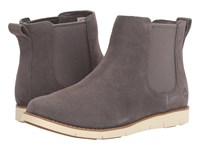 Timberland Lakeville Double Gore Chelsea Dark Grey Suede Women's Boots Gray