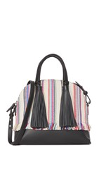 Loeffler Randall Dome Satchel Multi Stripe Black