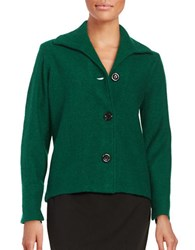 Nipon Boutique Wool Button Front Jacket Evergreen