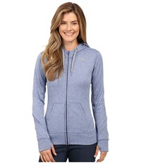The North Face Fave Full Zip Hoodie Coastal Fjord Blue Heather Tnf Medium Grey Heather Women's Sweatshirt
