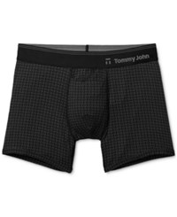 Tommy John Men's Second Skin Hawthorne Printed Trunks Black Weave
