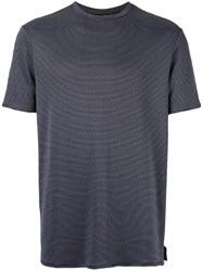 Emporio Armani Printed Straight Fit T Shirt Blue