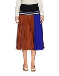 Bouchra Jarrar 3 4 Length Skirts Brown