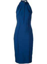 Thierry Mugler Fitted Dress Blue