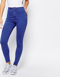 Missguided Vice Highwaisted Skinny Jean Brady Blue