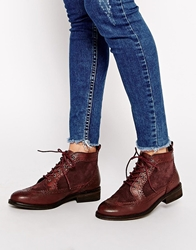 Pull And Bear Lace Up Boots Brown