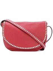 Red Valentino Small Studded Shoulder Bag Women Leather One Size Red