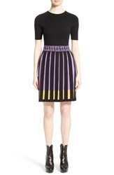 Versace Women's Collection Knit Fit And Flare Dress