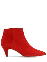 Steve Madden 60Mm Suede Ankle Boots Red