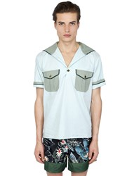 Christian Pellizzari Sailor Shirt With Floral Venice Patches