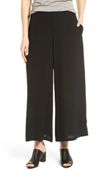 Eileen Fisher Women's Silk Georgette Wide Leg Crop Pants