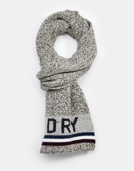 Superdry Logo Scarf Grey