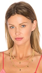 Frasier Sterling Saint Choker In Metallic Gold.