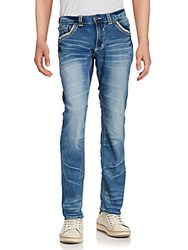 Affliction Faded Whiskered Jeans Trenton