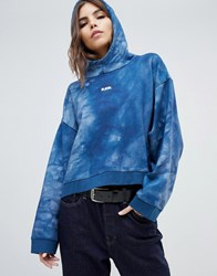 G Star X Jaden Smith Force Of Nature Organic Cotton Waterfall Hoodie Teal Blue Ao