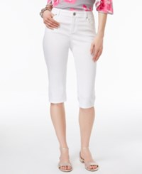 Inc International Concepts Curvy Denim Skimmer Shorts Only At Macy's White Denim