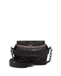 Rag And Bone Pilot Micro Leather Satchel Bag Black