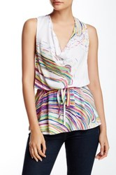 Plenty By Tracy Reese Cowl Halter Tank Multi