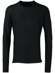 Label Under Construction Classic Raglan Jumper Black