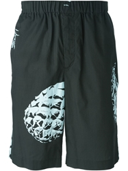 Msgm Pineapple Print Shorts Black