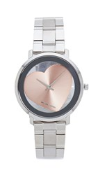 Michael Kors Jaryn Heart Watch Silver Rose Gold
