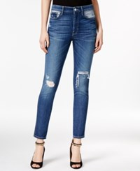 Guess 1981 Ripped Medium Wash Skinny Jeans