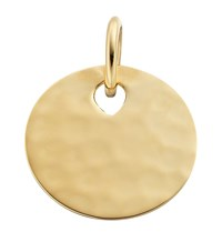 Monica Vinader Ziggy Round Pendant Female Gold