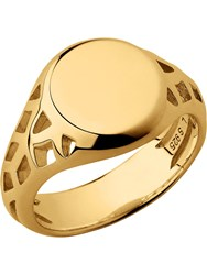 Links Of London Timeless 18Kt Yellow Gold Vermeil Signet Ring Gold Yellow