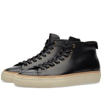 Buttero Tanino Mid Leather Welt Sneaker Black