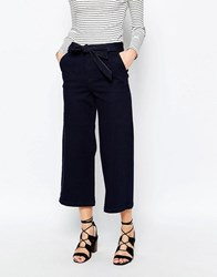 Warehouse Denim Tie Waist Culottes Indigo