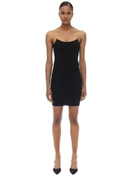 Alexander Wang Chained Stretch Jersey Mini Dress Black