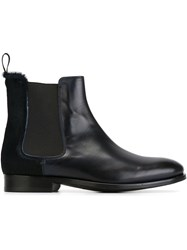 Paul Smith Panelled Chelsea Boots Blue