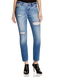Dittos Selena Mid Rise Skinny Jeans In Lightly Destructed Antique Compare At 79