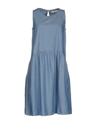 0039 Italy Dresses Knee Length Dresses Women Blue