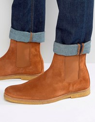 Religion Suede Chelsea Boots Tan