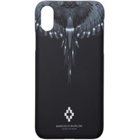 Marcelo Burlon County Of Milan Black And Silver Wings Iphone X Case