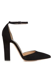 Gianvito Rossi Camoscio Point Toe Suede Pumps Black