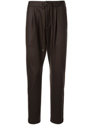 Attachment Drawstring Waist Trousers Brown