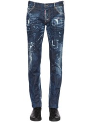Dsquared 17.5Cm Slim Fit Stretch Denim Jeans