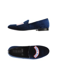 Never Ever Moccasins Dark Blue