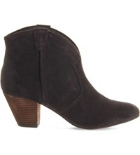 Ash Jalouse Suede Heeled Ankle Boots Wood Ash Suede