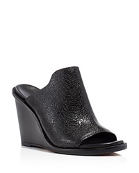 French Connection Pandra Wedge Slide Sandals Black