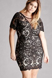 Forever 21 Plus Size Soieblu Crochet Dress Black