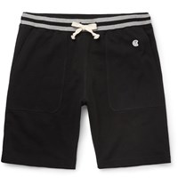 Todd Snyder Champion Loopback Cotton Jersey Shorts Black