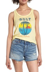 Obey Problems In Paradise Graphic Tank Yellow